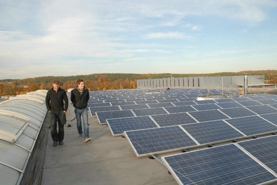 Photovoltaik-Anlage der Firma ENERGON GbR am Netz